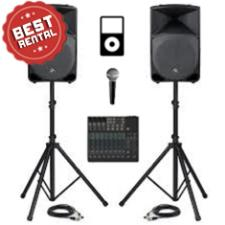 2 Speaker Sound Package Rental