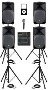 4 Speaker Sound Package Rental