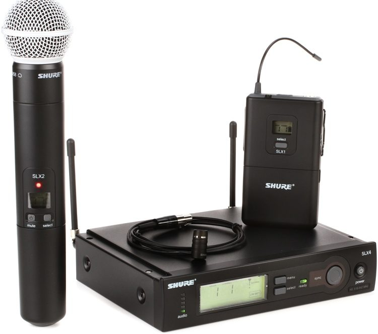 Shure SLX Combo Wireless Microphone System