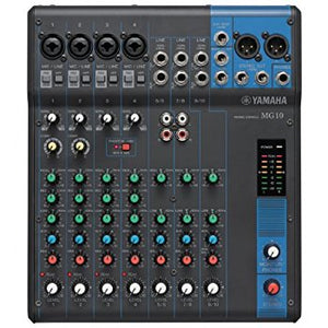 10 Channel Mixer (4 XLR inputs)