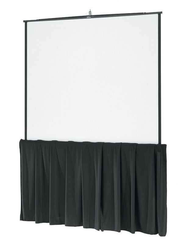 8′ Portable Tripod Screen with Skirt – Front Projection