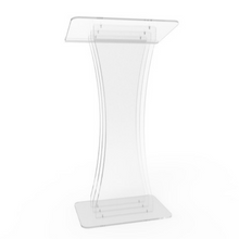 Load image into Gallery viewer, Clear Acrylic Lectern Podium - Hour Glass Shaped