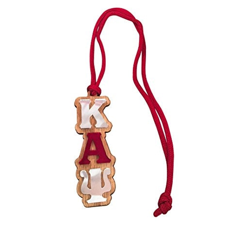 KAY Lettered Necklace/Rearview Mirror Hang - Kappa Alpha Psi