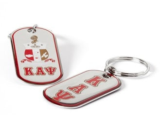 Kappa Dog Tag Keychain - Kappa Alpha Psi