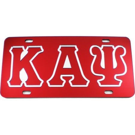 KAY Letter License Plate - Kappa Alpha Psi