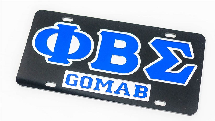 Phi Beta Sigma GOMAB License Plate