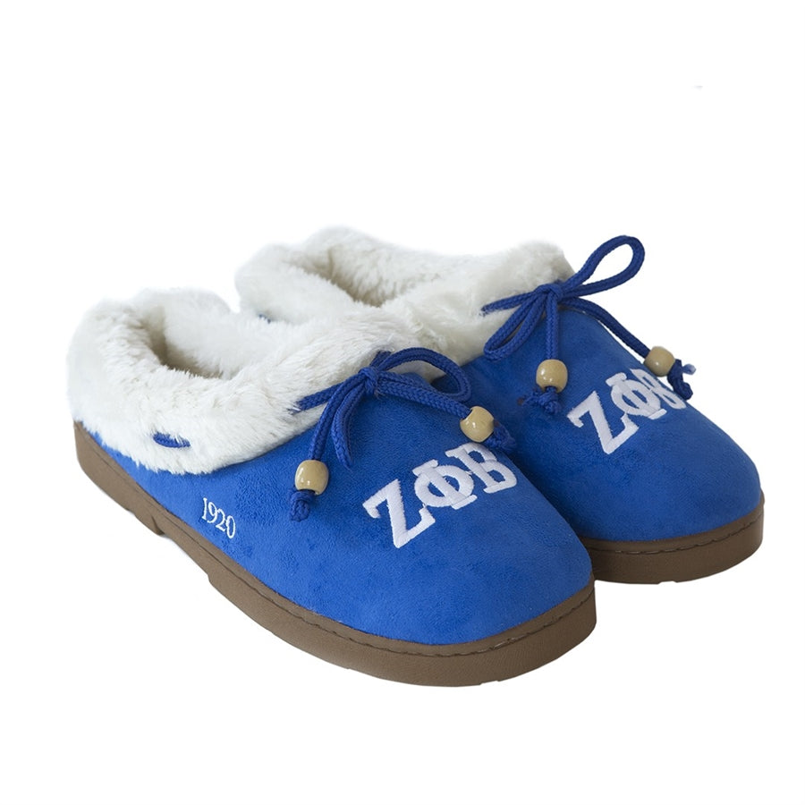 Zeta Embroidered Cozy Slippers - Zeta Phi Beta