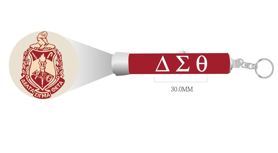 Delta Sigma Theta Torch Light Keychain