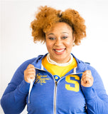 SGRho Sueded Full Zip Hooded Jacket - Sigma Gamma Rho