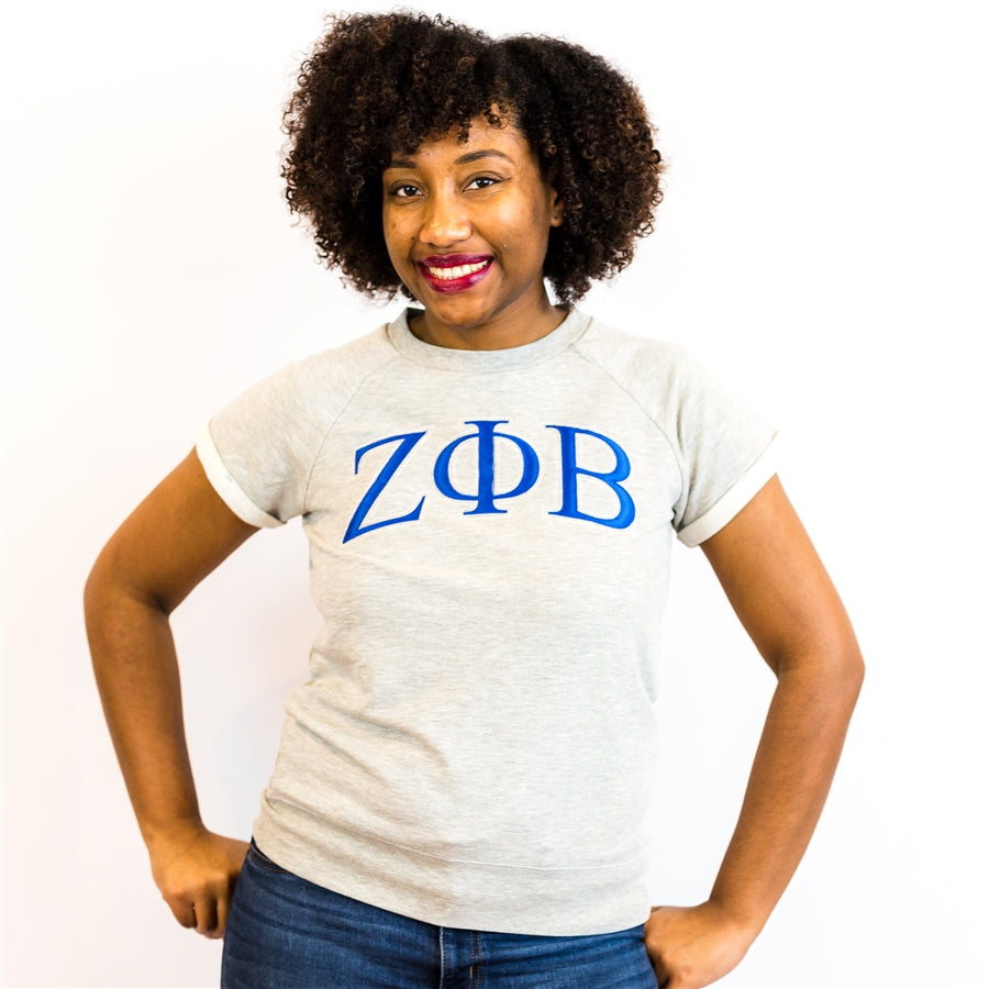 Zeta Phi Beta Modern 3 Letter Terry Shirt