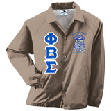 Sigma Greek Lettered Crossing Jacket - Phi Beta Sigma