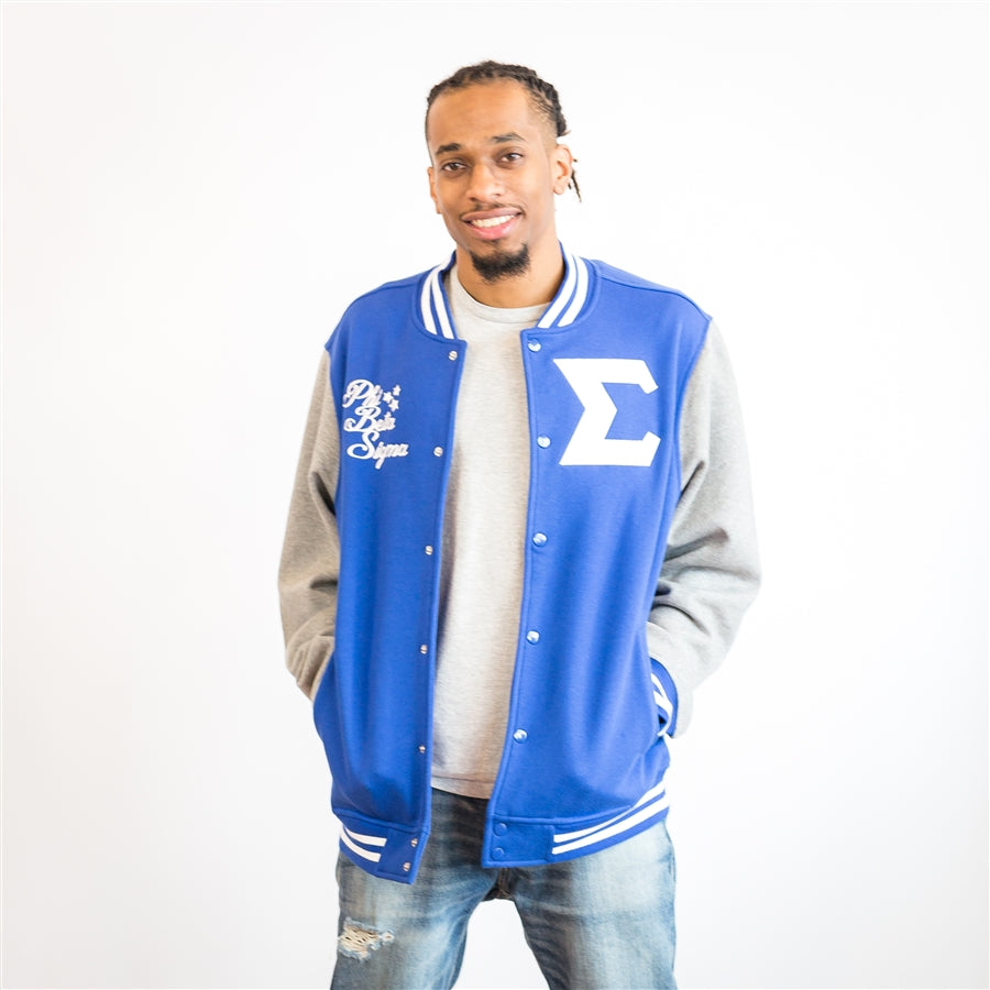 Sigma Fleece Letterman Jacket - Phi Beta Sigma