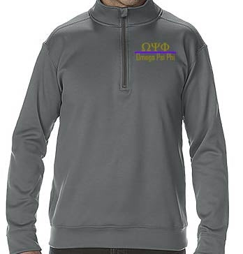 Omega 1/4 Zip Performance Fleece  - Omega Psi Phi