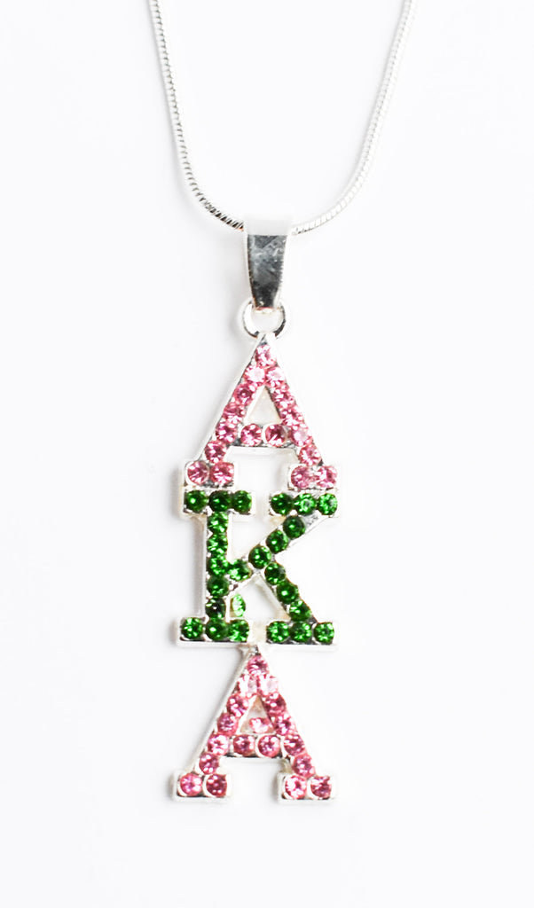 Alpha Kappa Alpha Crystal Necklace