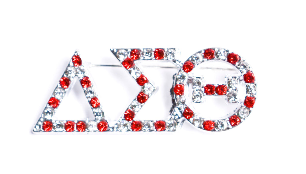 Delta Sigma Theta 3 Letter Crystal Lapel Pin