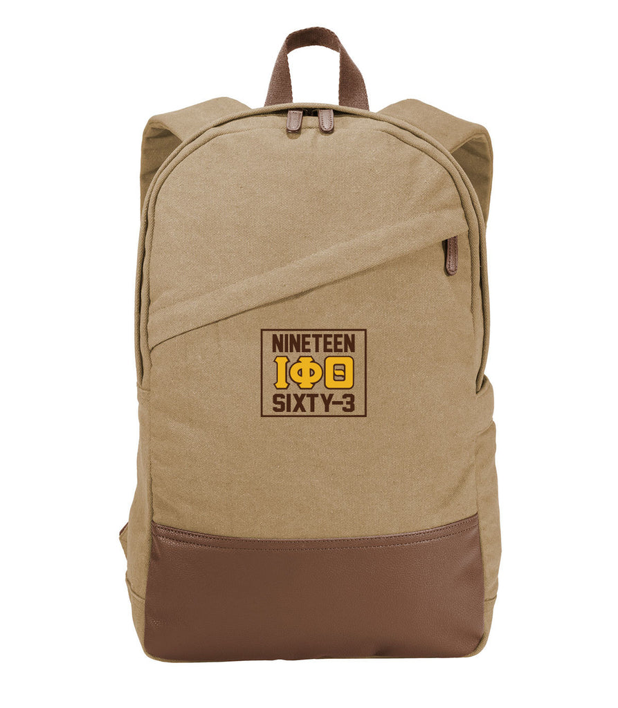 Iota Phi Theta Stamp Canvas Backpack
