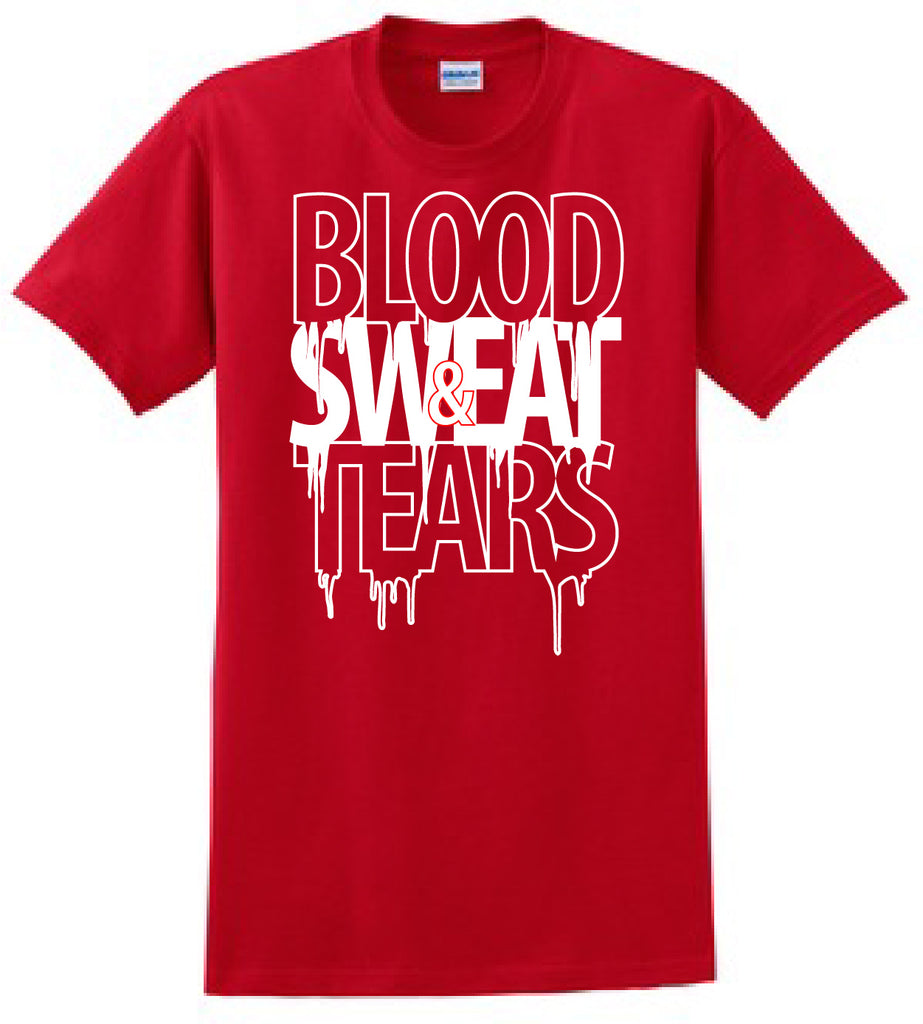 Red & White Blood Sweat & Tears T-Shirt