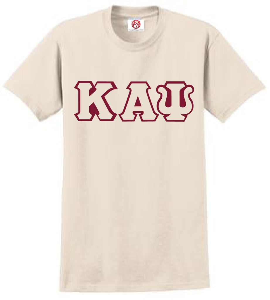 Kappa Greek 3 Letter Embroidered T-Shirt - Kappa Alpha Psi
