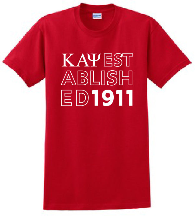 Kappa Established Year T-Shirt - Kappa Alpha Psi