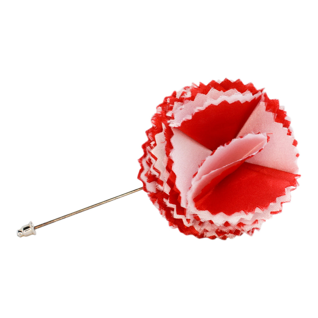 Red and White Flower Lapel Pin- Kappa Alpha Psi