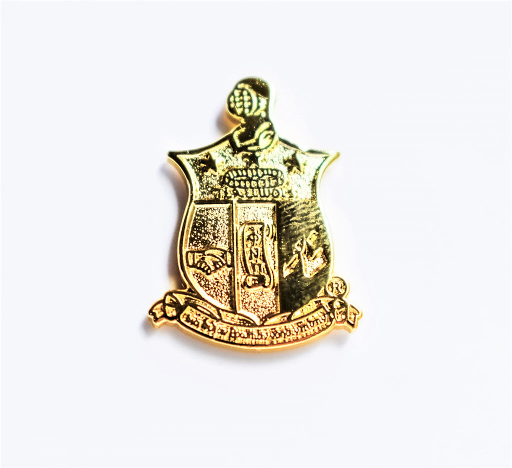Coat of Arms Lapel Pin All Gold - Kappa Alpha Psi