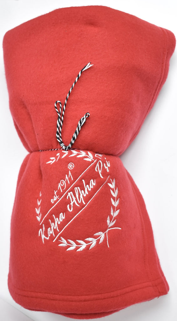 Kappa Alpha Psi Embroidered Wreath Blanket