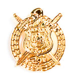 Omega Psi Phi All Gold Crest Lapel Pin
