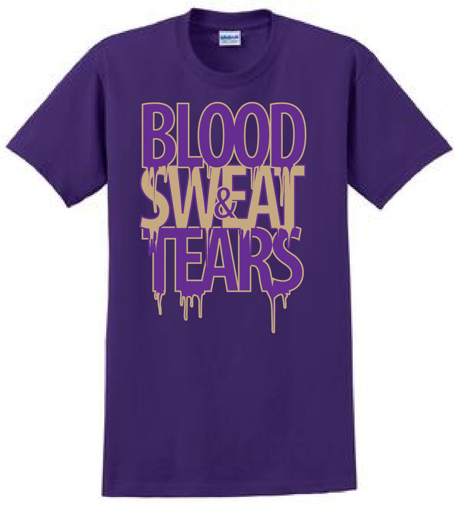Purple & Old Gold Blood Sweat & Tears T-Shirt