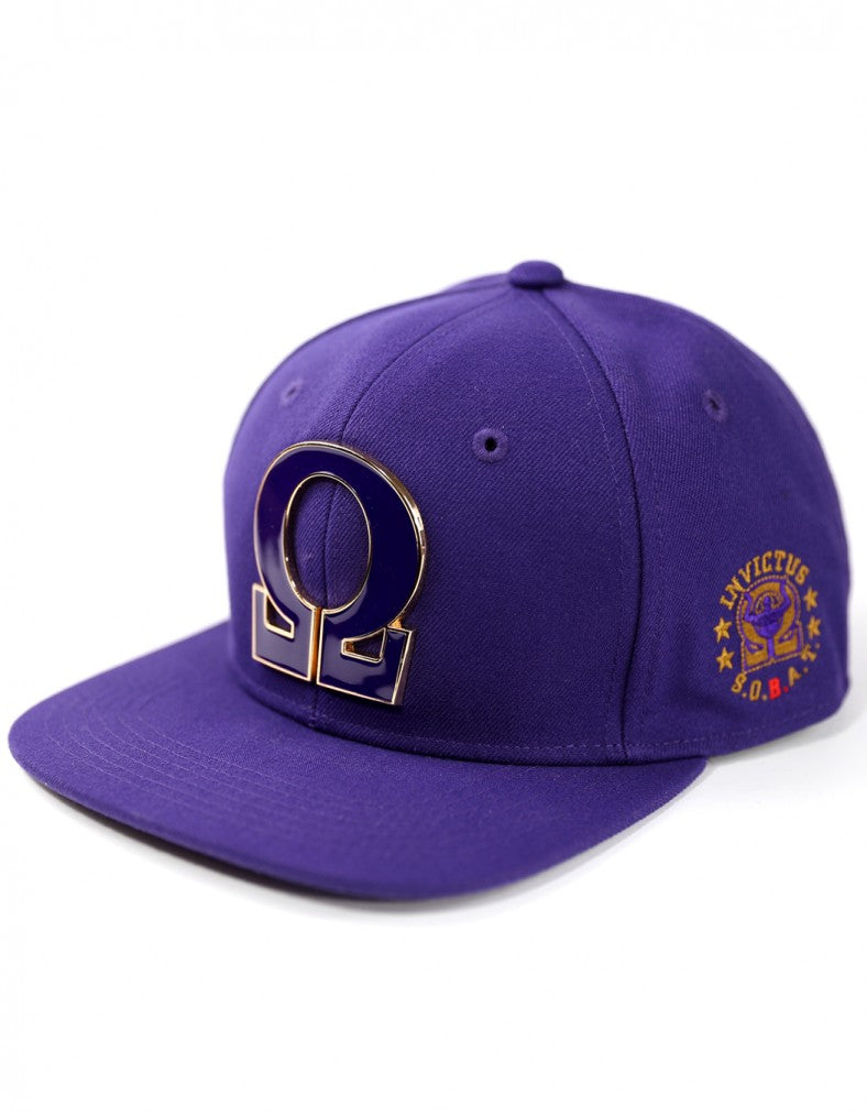 Omega Psi Phi Solid Omega Snap Back Hat