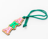 AKA Mirror Hang / Necklace - Alpha Kappa Alpha