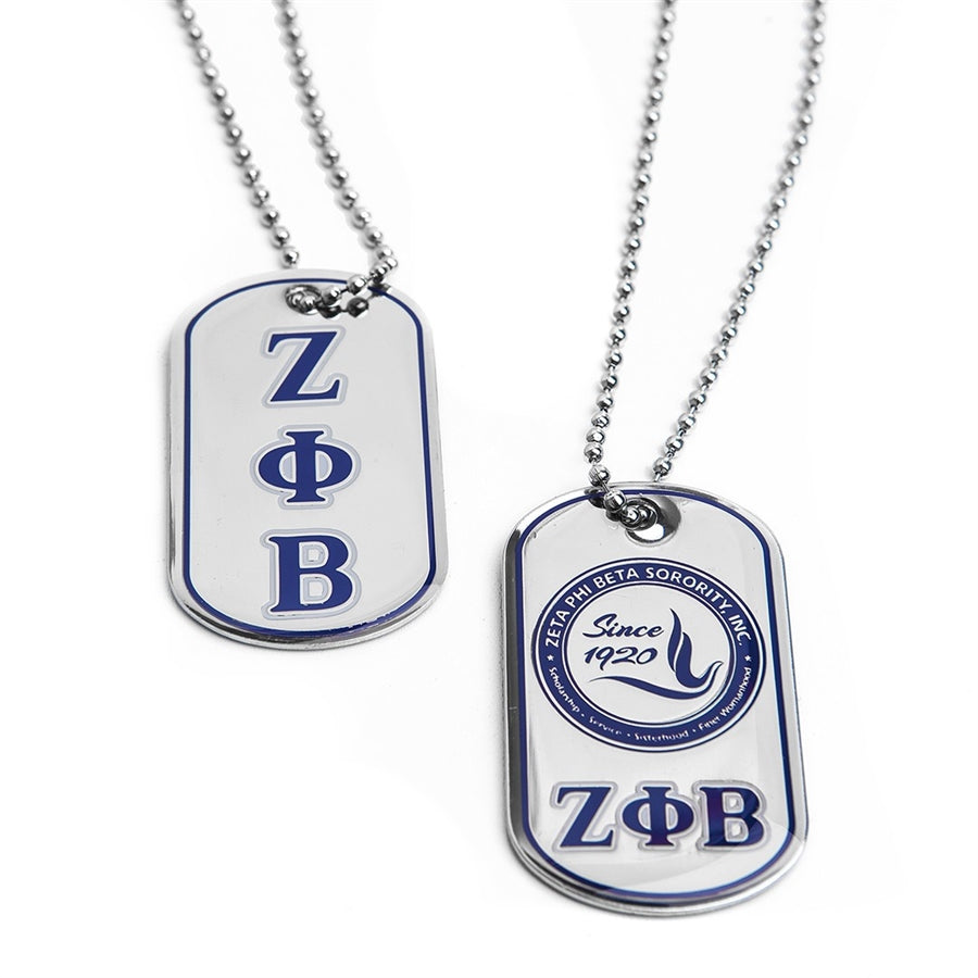 Zeta Dog Tag - Zeta Phi Beta