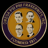 Omega Psi Phi Founders Lapel Pin