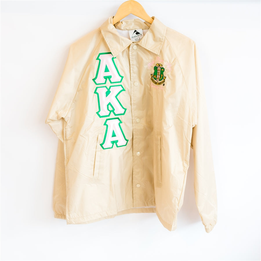 AKA Greek Lettered Crossing Jacket - Alpha Kappa Alpha
