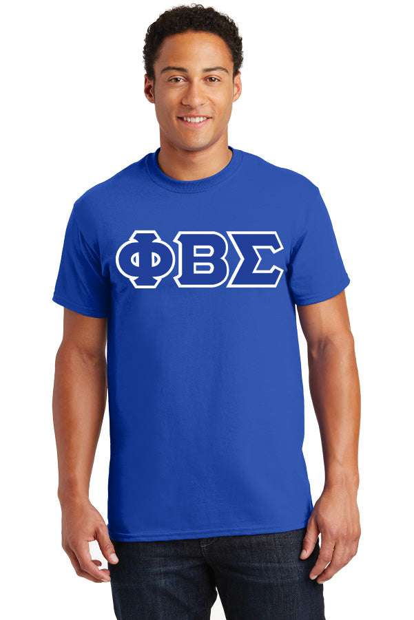 Sigma 3 Greek Lettered Embroidered T-Shirt - Phi Beta Sigma