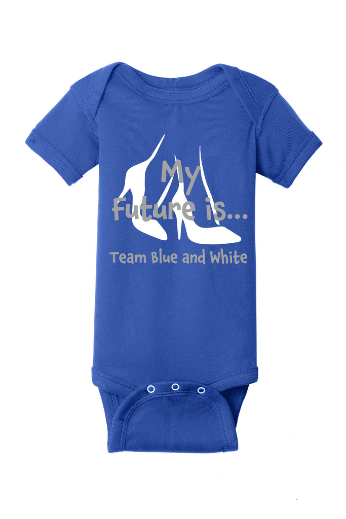 Future Team Blue & White Onesie - Zeta Phi Beta