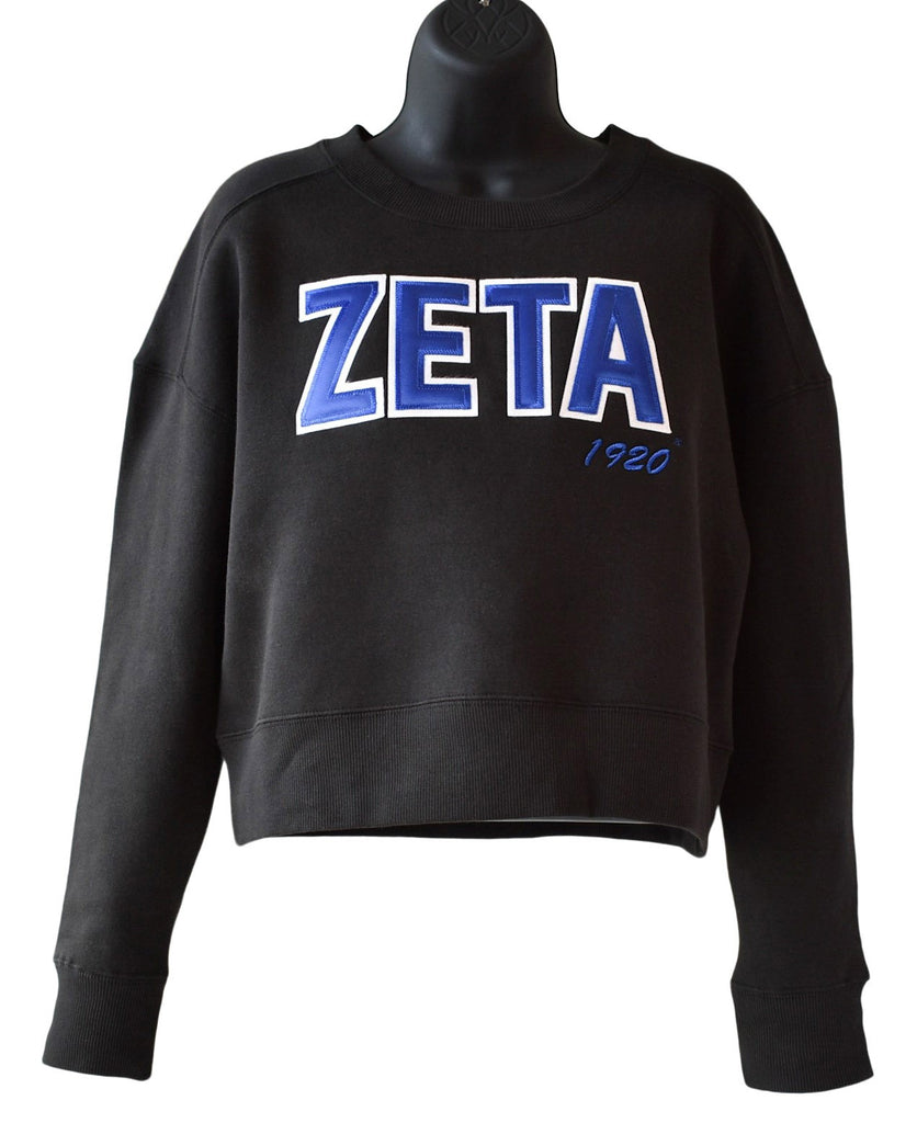 Zeta Cropped Crewneck Sweatshirt -Zeta Phi Beta