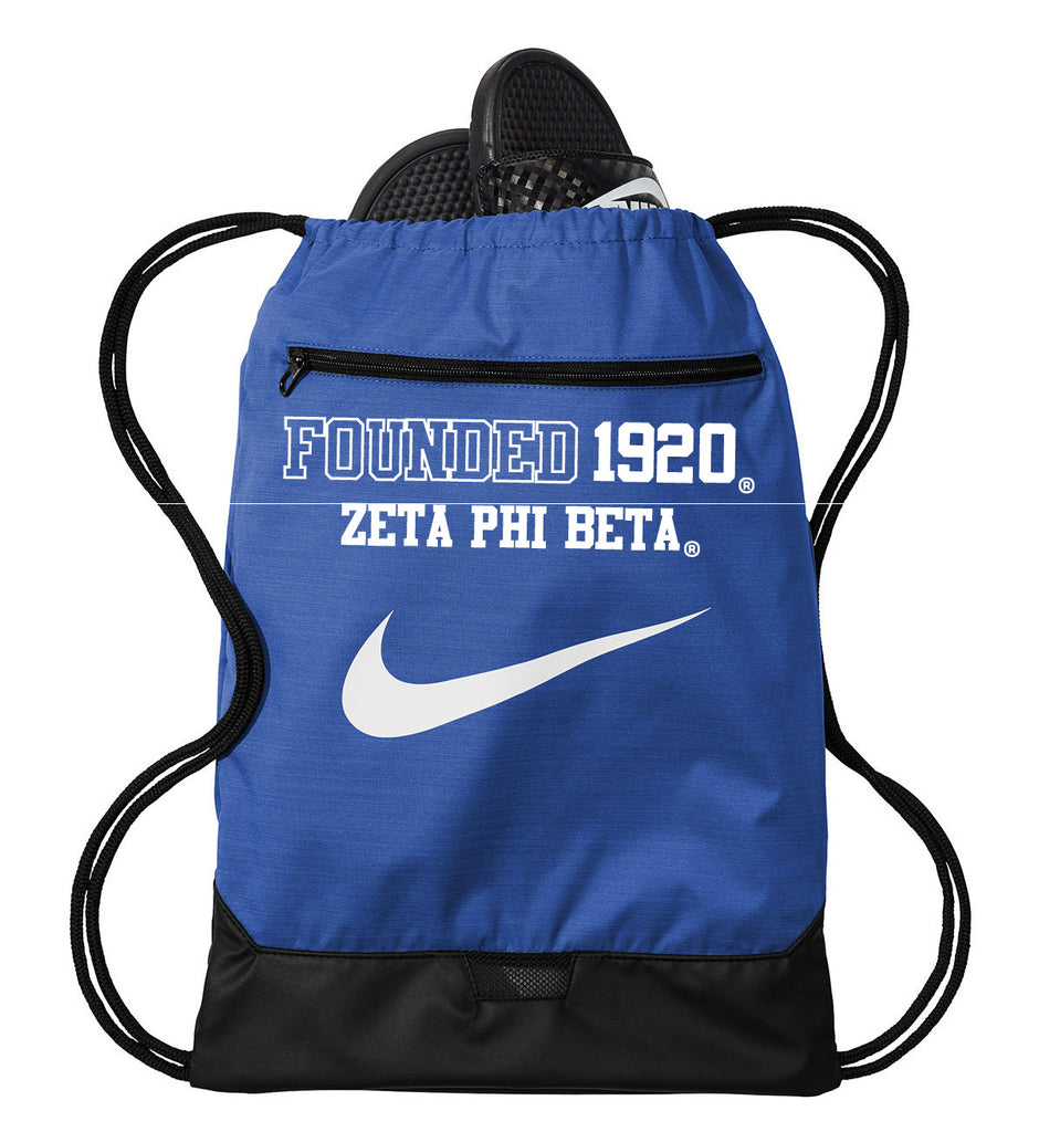 Zeta Phi Beta Nike Cinch Bag