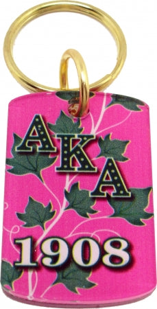 Alpha Kappa Alpha Acrylic Dog Tag Key Chain