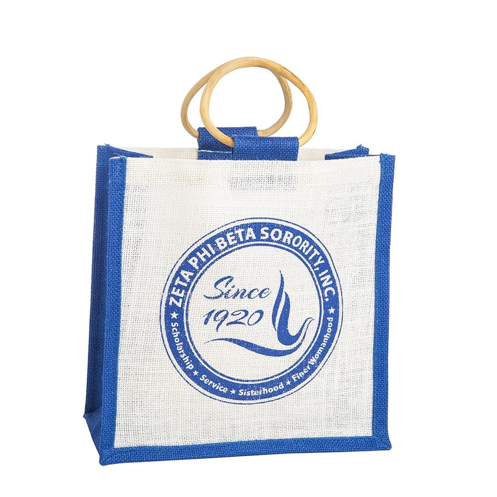 Zeta Phi Beta Shield Jute Bag