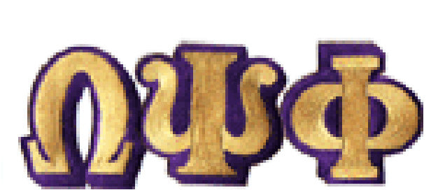 Omega Small Connected Greek Letters Patch - Omega Psi Phi