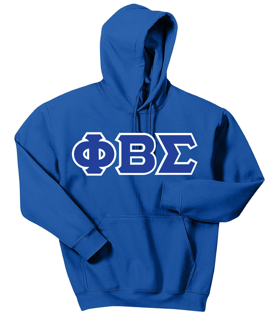 Phi Beta Sigma Greek 3 Letter Hoodie Sweatshirt