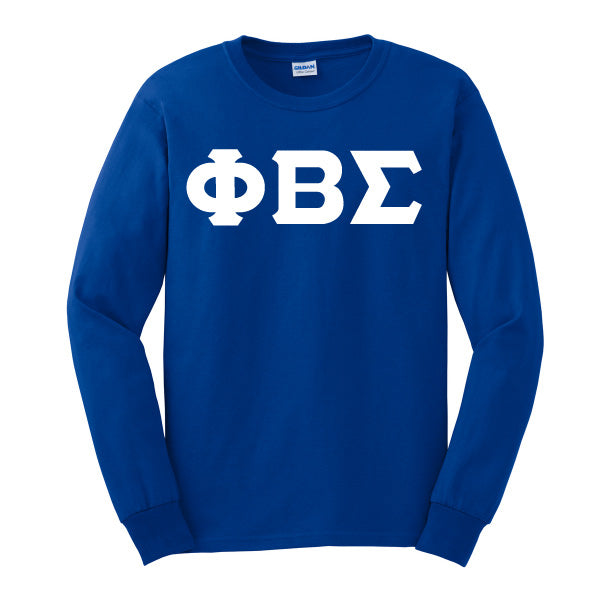 Sigma 3 Lettered Single Layered Long Sleeved T-Shirt - Phi Beta Sigma
