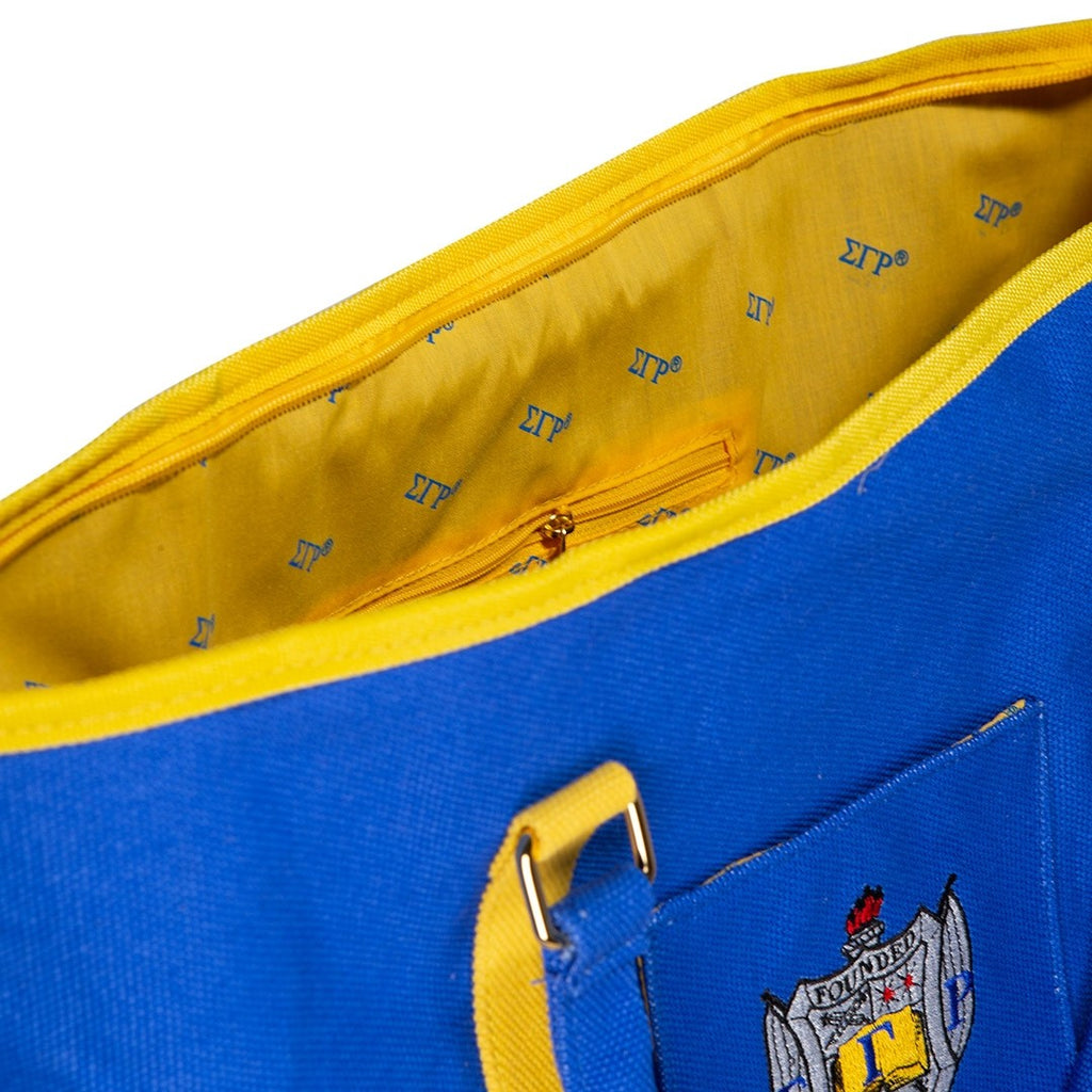 Sigma Gamma Rho Shield Canvas Tote Bag