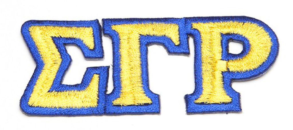 SG Rho Small Connected Greek Letter Patch - Sigma Gamma Rho