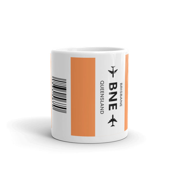 BNE (Brisbane Airport) Luggage Tag Tea and Coffee Mug