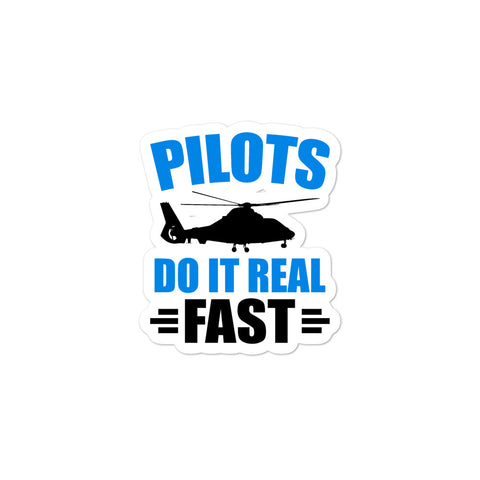 Bubble-free stickers - Pilots Do It Real Fast
