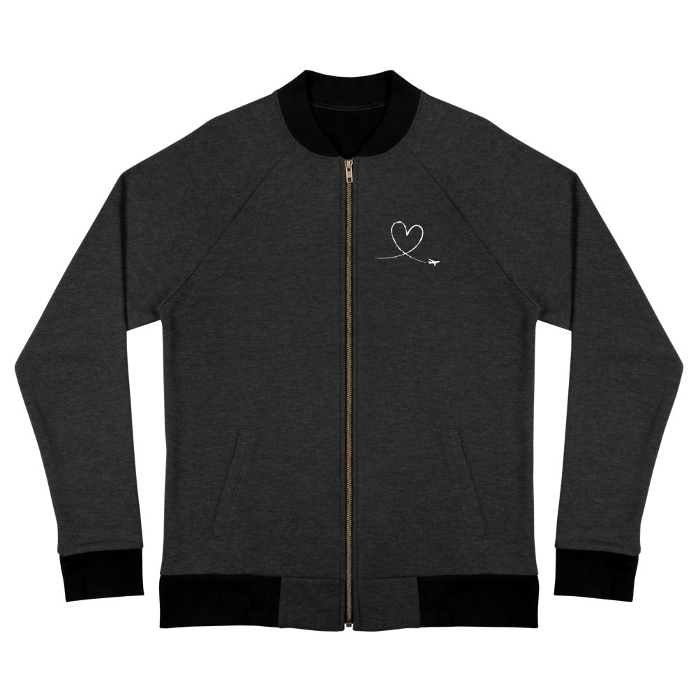 Love Heart Zip Up Soft Jacket
