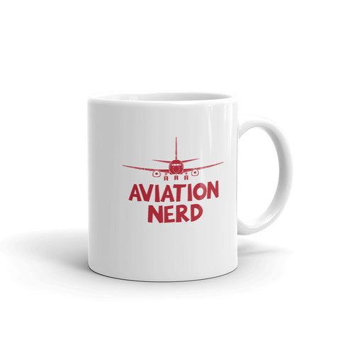 Aviation Nerd Tea and Coffee Mug - Double-Sided White