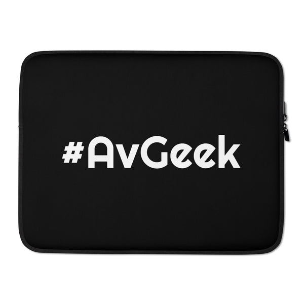 #AVGEEK (Black) Laptop Sleeve