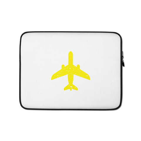 Yellow Plane Laptop Sleeve